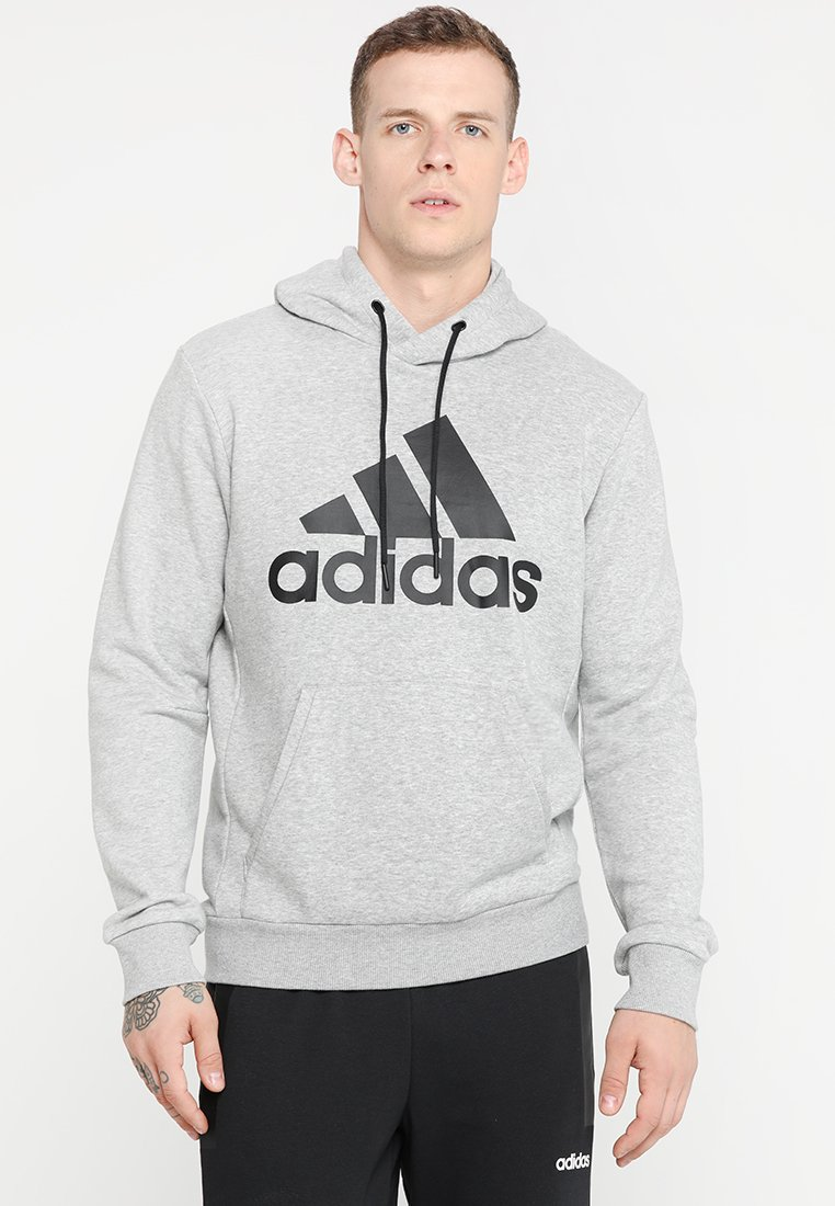 adidas Performance - MUST HAVES SPORT REGULAR FIT HOODIE - Hoodie - medium grey heather/black