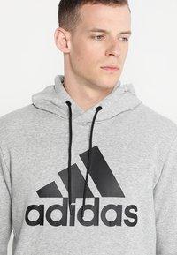 adidas Performance - MUST HAVES SPORT REGULAR FIT HOODIE - Hoodie - medium grey heather/black - 3