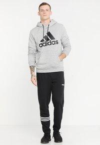 adidas Performance - MUST HAVES SPORT REGULAR FIT HOODIE - Hoodie - medium grey heather/black - 1