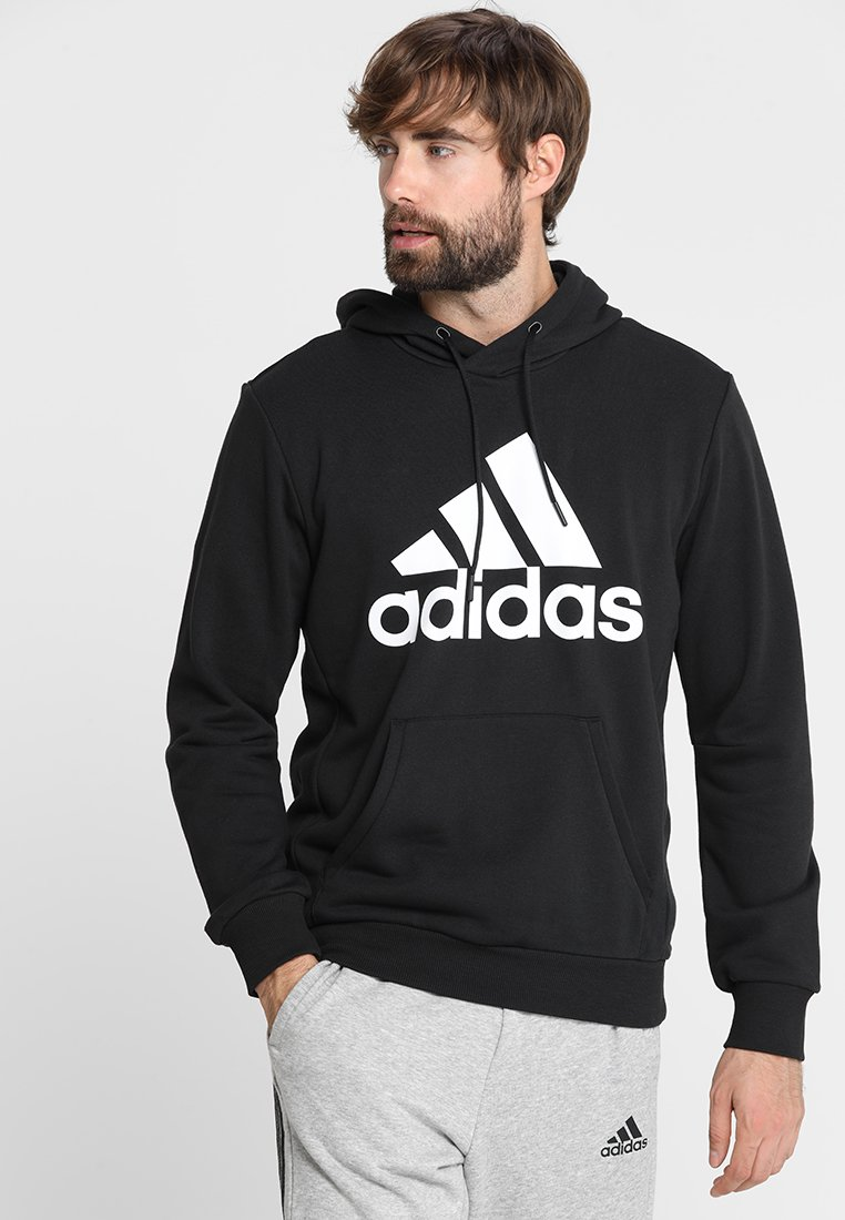 adidas Performance - MUST HAVES SPORT REGULAR FIT HOODIE - Jersey con capucha - black/white