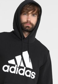 adidas Performance - MUST HAVES SPORT REGULAR FIT HOODIE - Hættetrøjer - black/white - 3