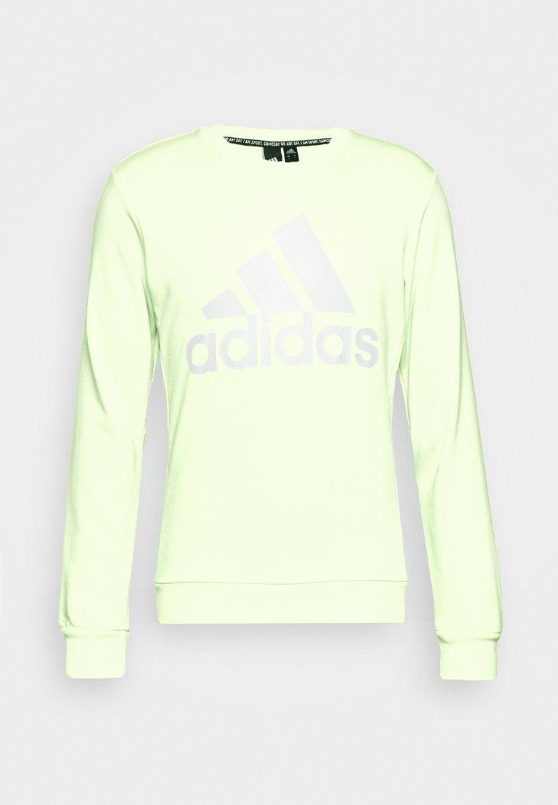 adidas Performance - BOS CREW - Felpa - yeltin/white