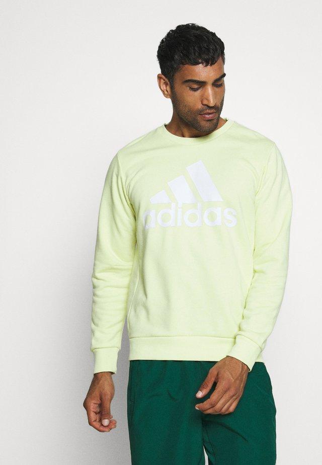 BOS CREW - Sweatshirt - yellow tint/white