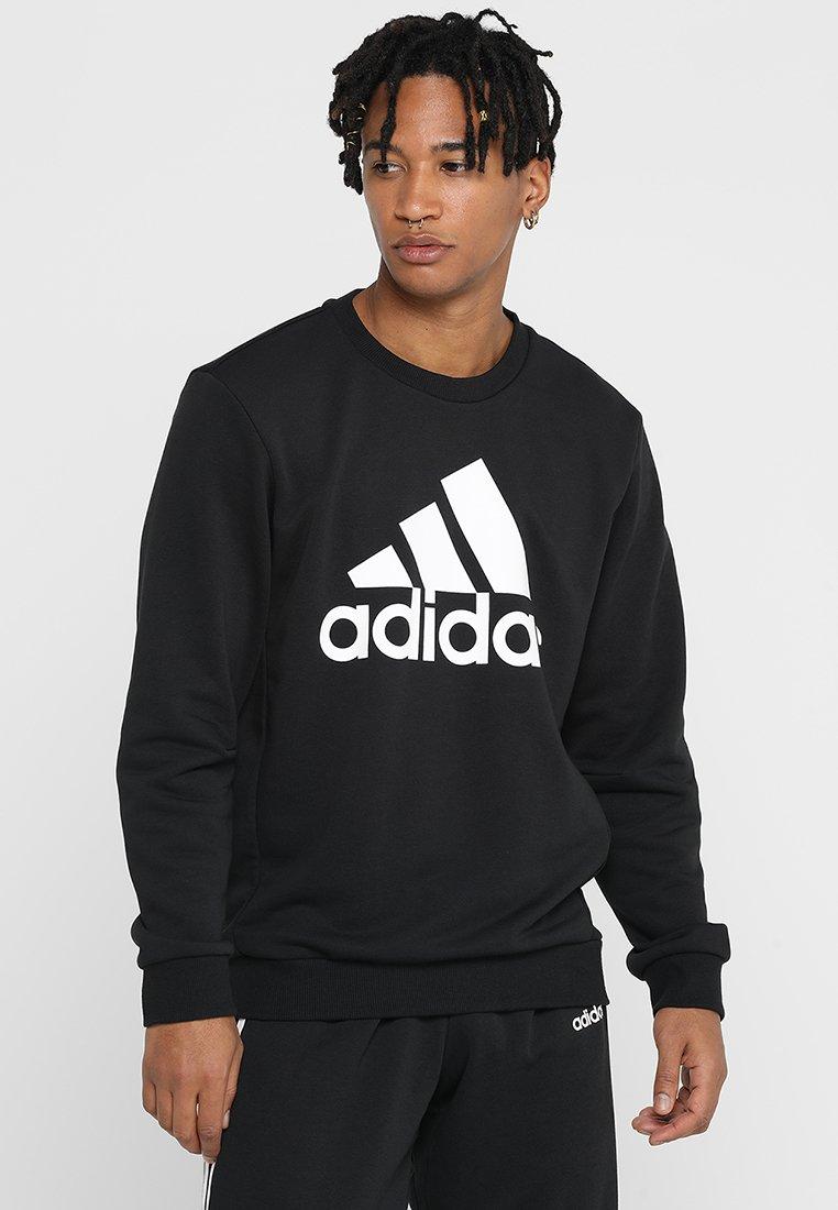 Adidas Bos white CrewSweatshirt Black Performance m0ON8nPyvw