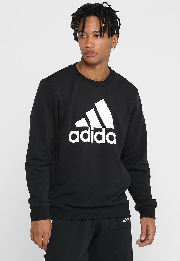 adidas Performance - BOS CREW - Sweatshirts - black/white