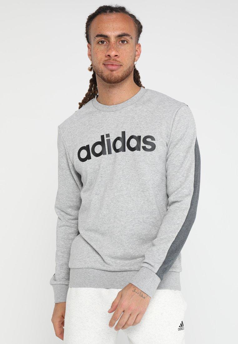 adidas Performance - CREW  - Sweater - medium grey heather/dark grey heather