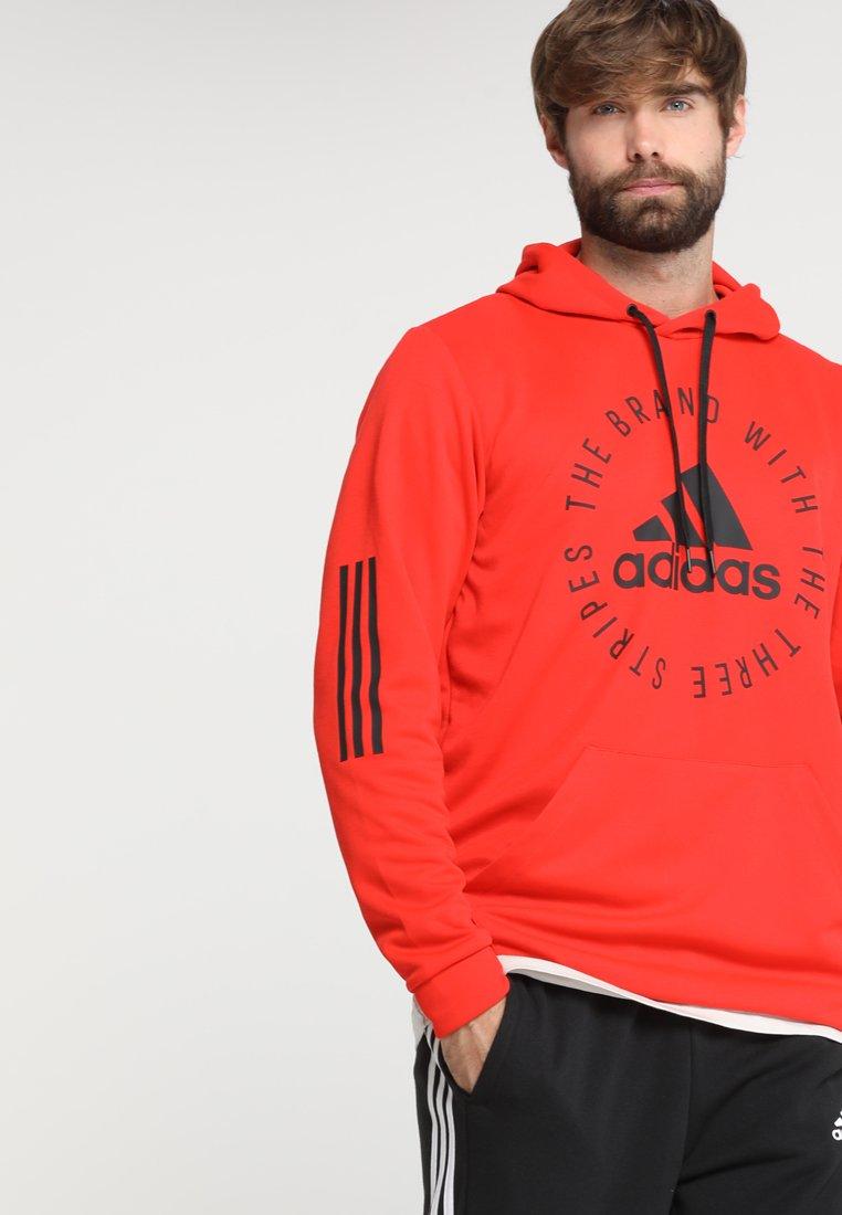 adidas Performance - SID - Felpa con cappuccio - active red/black