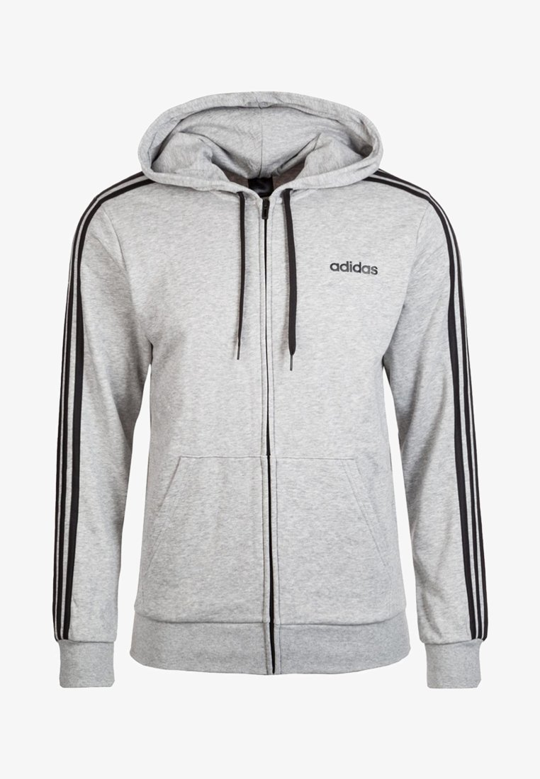 adidas Performance - Huvtröja med dragkedja - grey