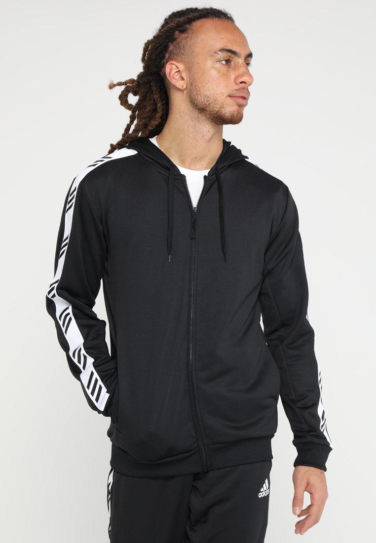 adidas Performance - HOODIE - Zip-up hoodie - black