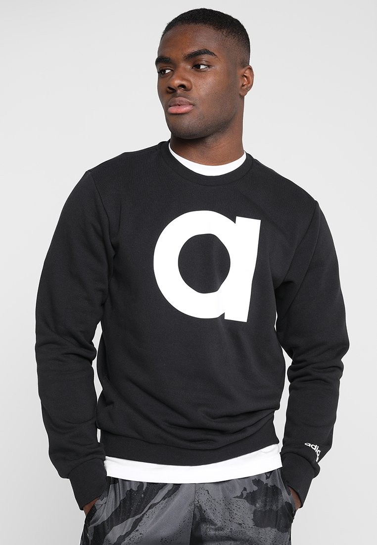 adidas Performance - BRAND CREW - Sweater - black/white