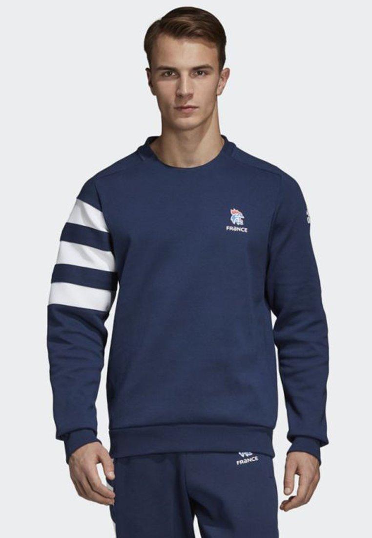 adidas Performance - FRENCH HANDBALL FEDERATION SWEATSHIRT - Sweatshirts - blue/ white