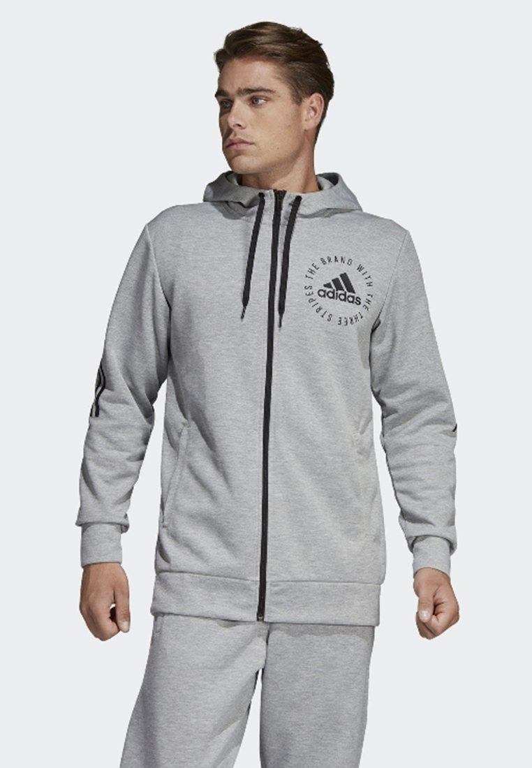 adidas Performance - Sport ID Hoodie - Collegetakki - grey