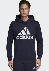 adidas Performance - MUST HAVES BADGE OF SPORT HOODIE - Luvtröja - blue - 0