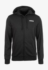 adidas Performance - Zip-up hoodie - black / white - 0