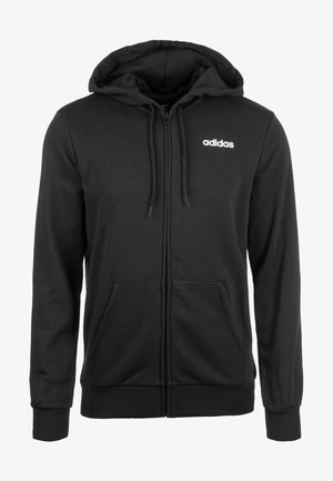 veste en sweat zippée - black / white