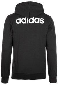 adidas Performance - Zip-up hoodie - black / white - 1