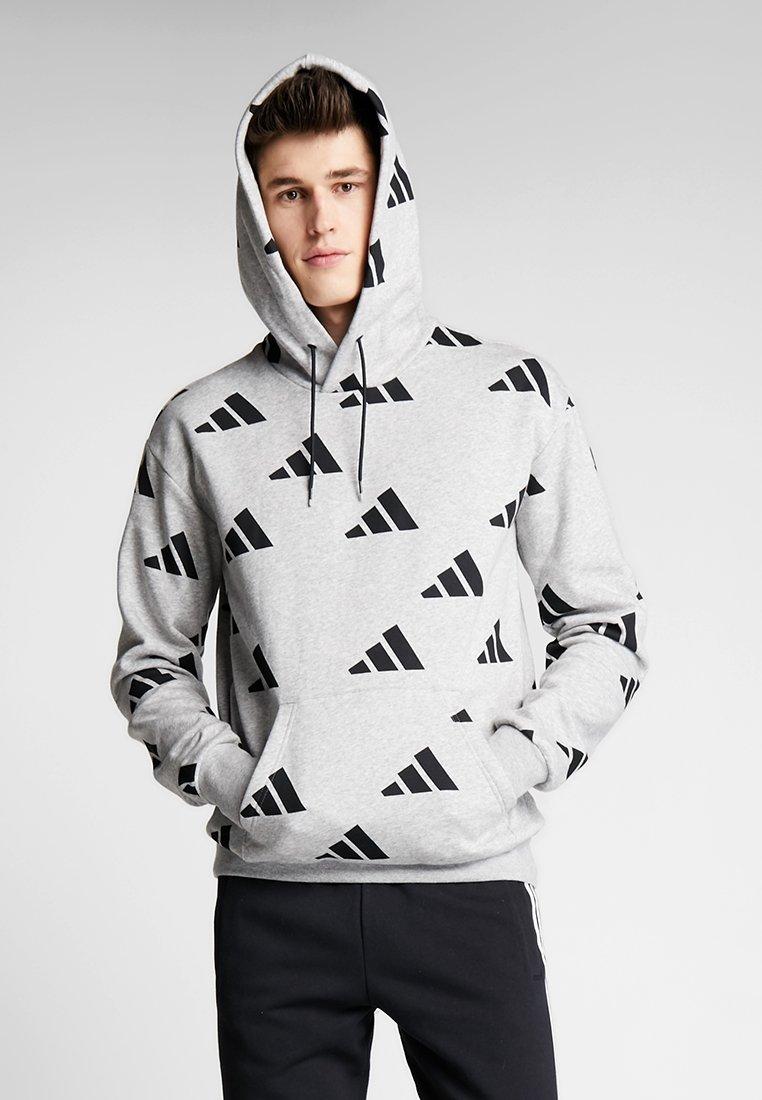 adidas Performance - ATHLETICS PACK SPORT RELAXED FIT HOODIE - Kapuzenpullover - grey/black
