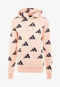 adidas Performance - ATHLETICS PACK SPORT RELAXED FIT HOODIE - Hoodie - glow pink/black - 5