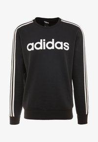 adidas Performance - 3S CREW - Sweatshirt - black/white - 4