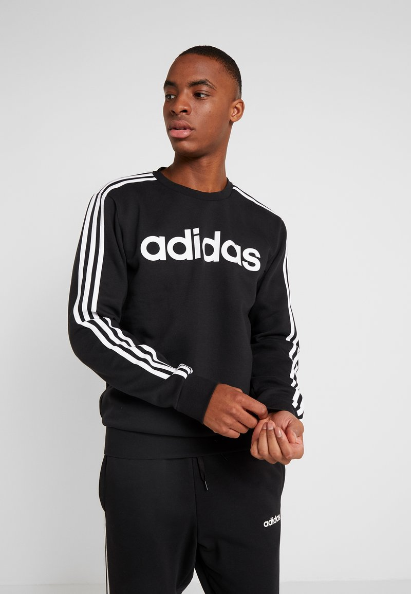 adidas Performance - 3S CREW - Sweatshirt - black/white