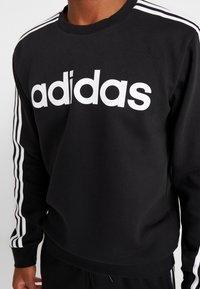 adidas Performance - 3S CREW - Sweatshirt - black/white - 5