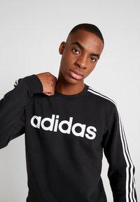 adidas Performance - 3S CREW - Sweatshirt - black/white - 3
