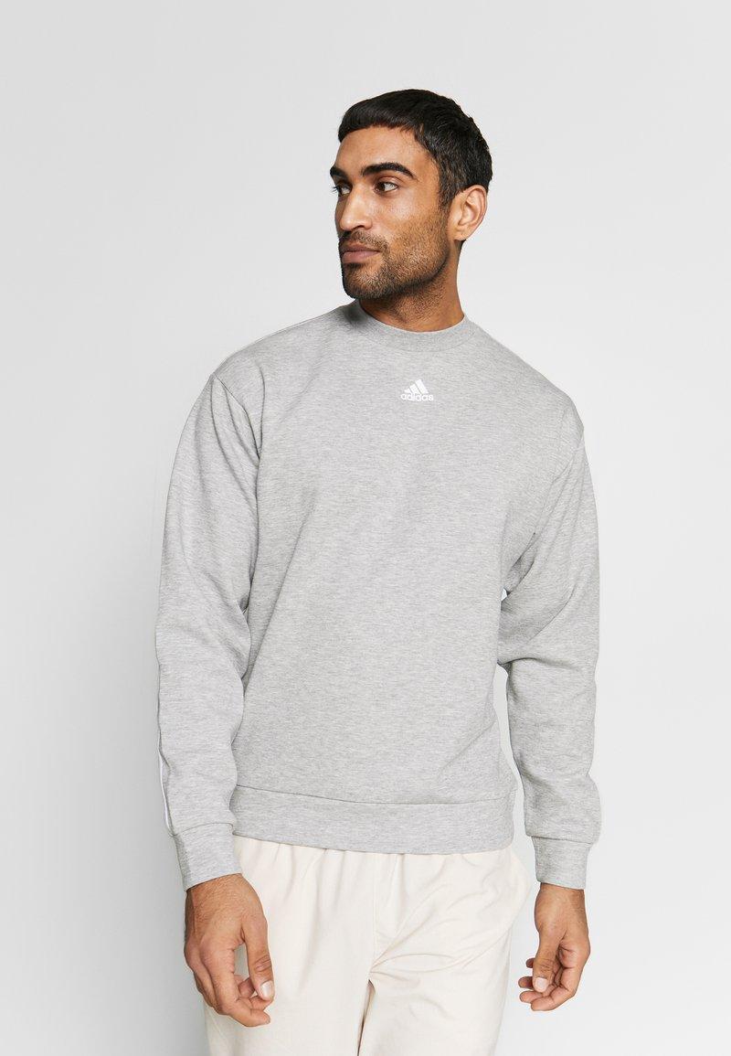 adidas Performance - CREW - Sweatshirt - grey/white