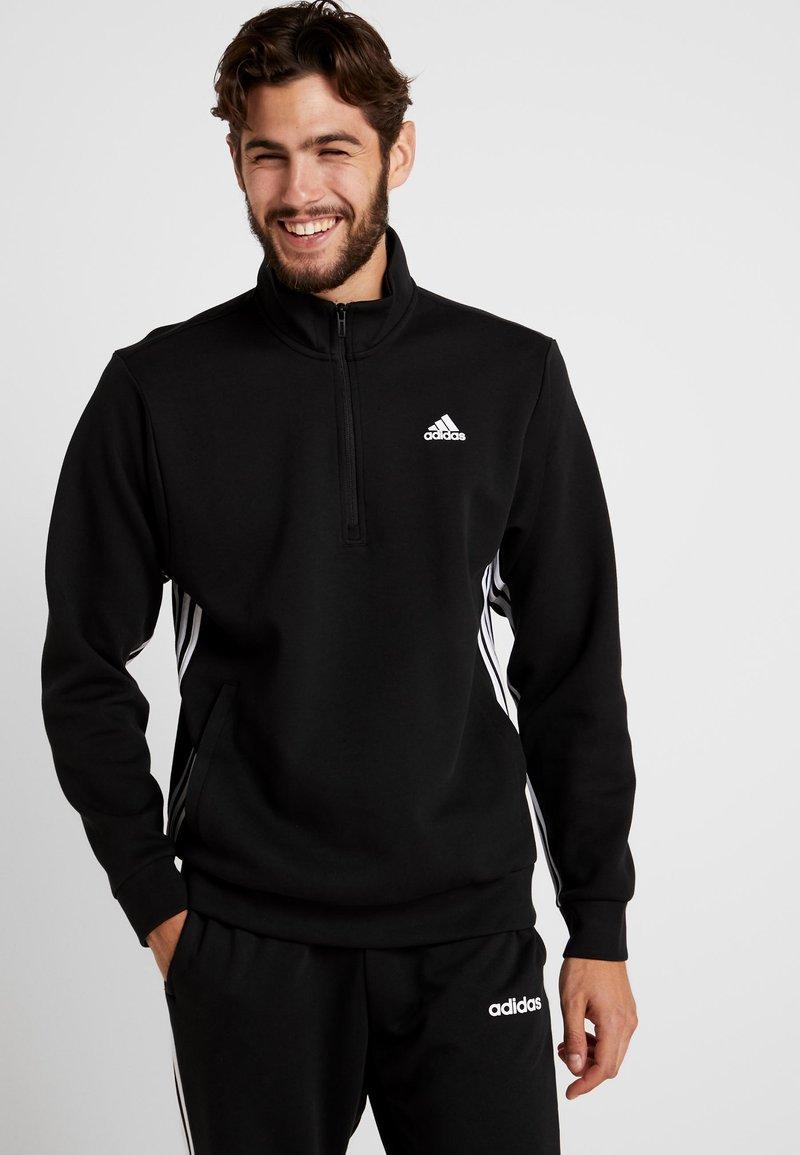 adidas Performance - ZIP - Sweatshirt - black/white