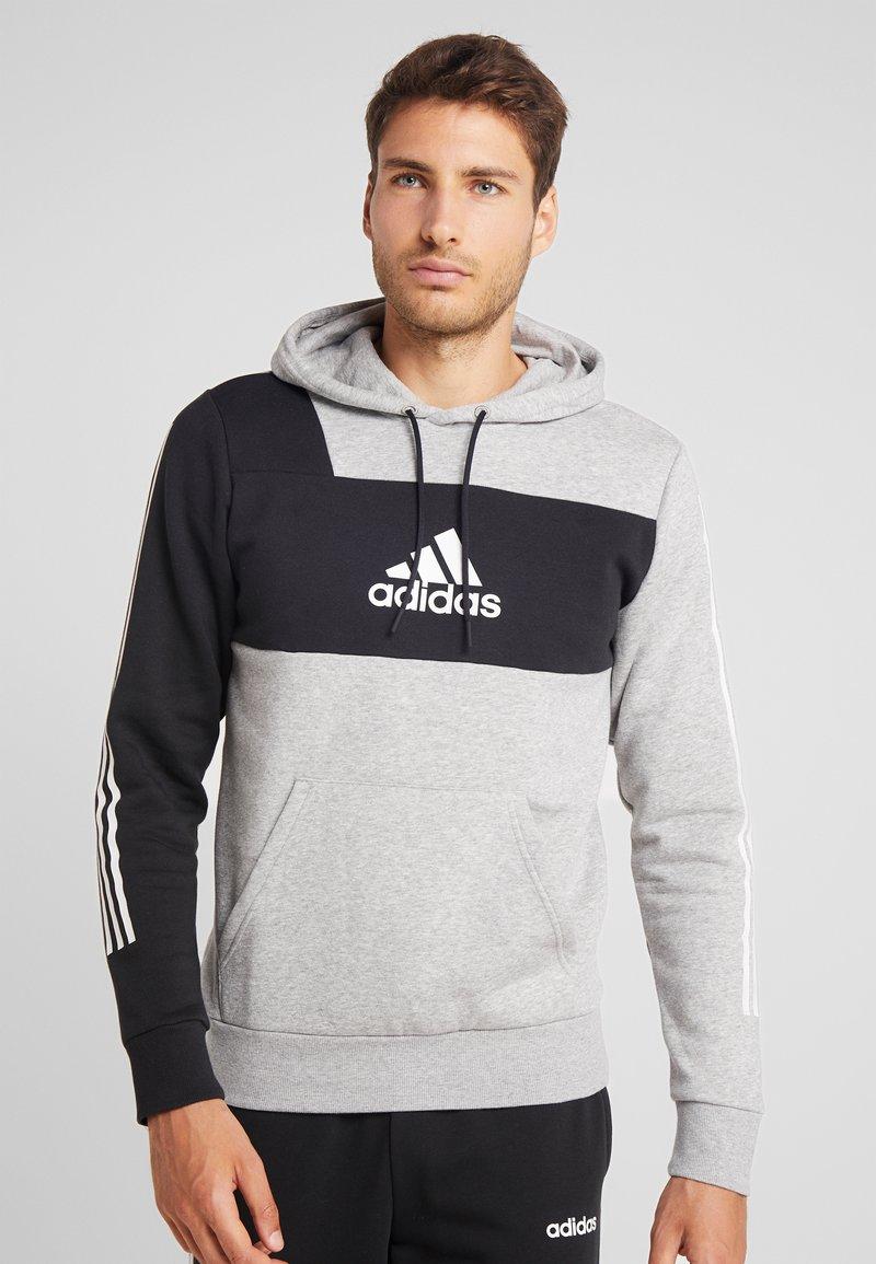 adidas Performance - Kapuzenpullover - greyh/black