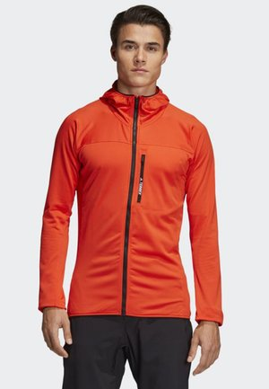 TRACEROCKER HOODED FLEECE JACKET - Fleece jacket - orange