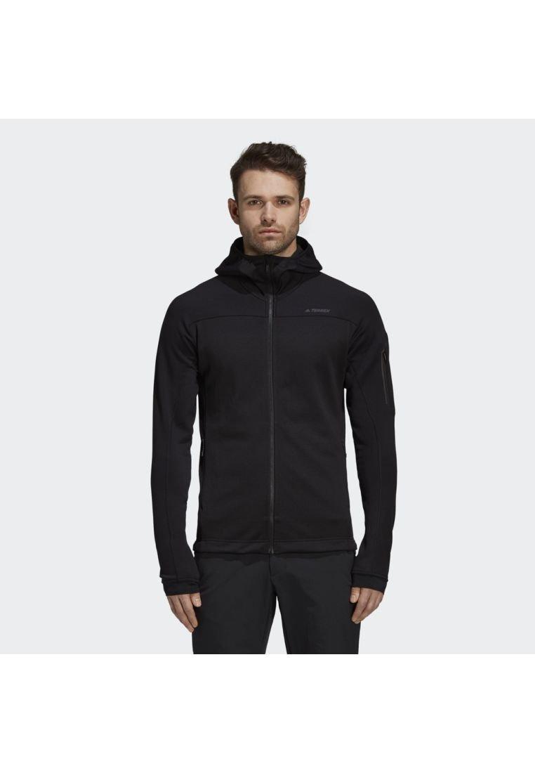 adidas Performance - STOCKHORN HOODED JACKET - Fleecejas - black