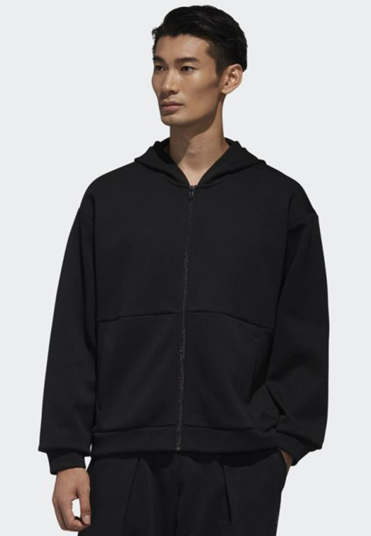 adidas Performance - SPORT 2 STREET DOUBLEKNIT SWEAT HOODIE - Zip-up hoodie - black