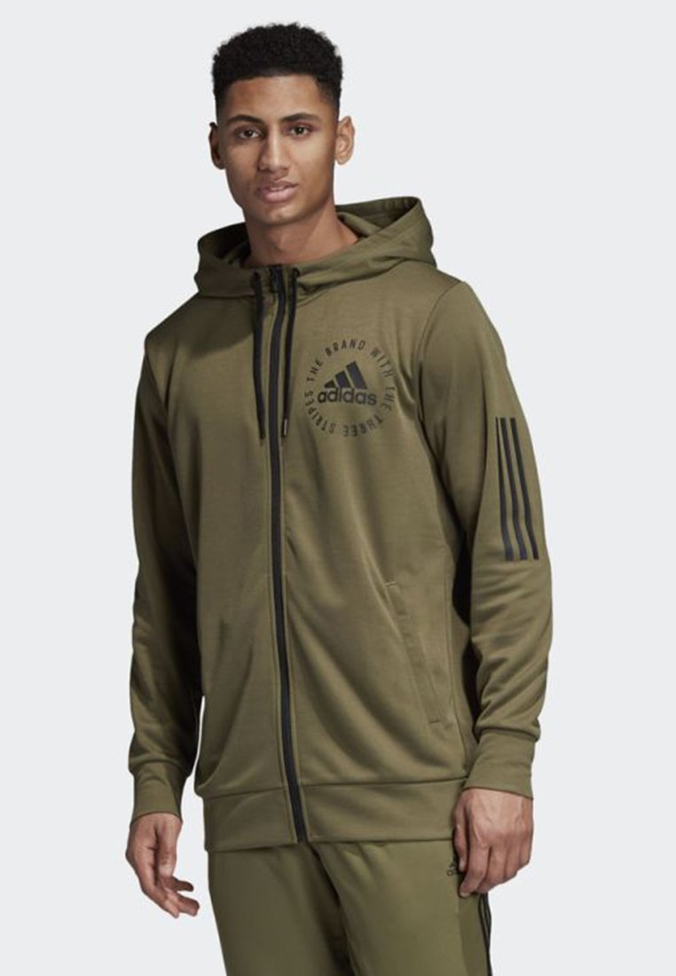 adidas Performance - SPORT ID HOODIE - Sweatjacke - green