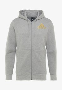 adidas Performance - SID - Huvtröja med dragkedja - medium grey heather - 5