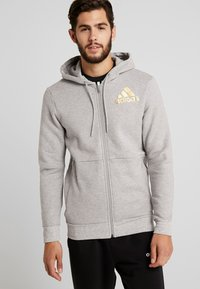 adidas Performance - SID - Hoodie met rits - medium grey heather - 0