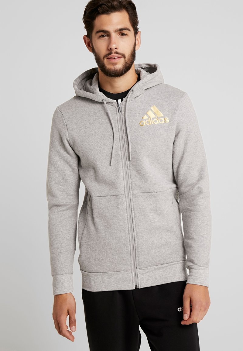adidas Performance - SID - Hoodie met rits - medium grey heather