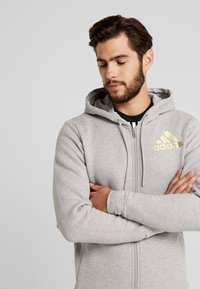 adidas Performance - SID - Hoodie met rits - medium grey heather - 3