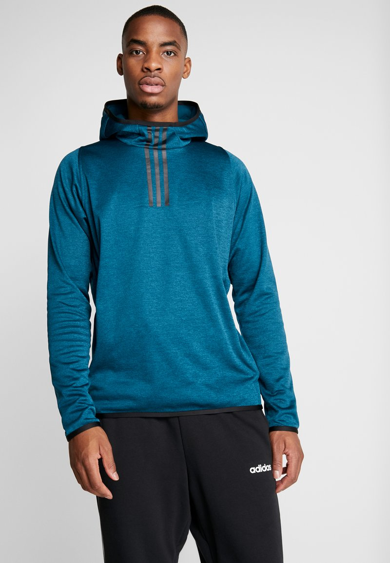 adidas Performance - WARM HOODIE - Mikina s kapucí - tech mint