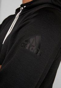 adidas Performance - WARM HOODIE - Hoodie - black - 6