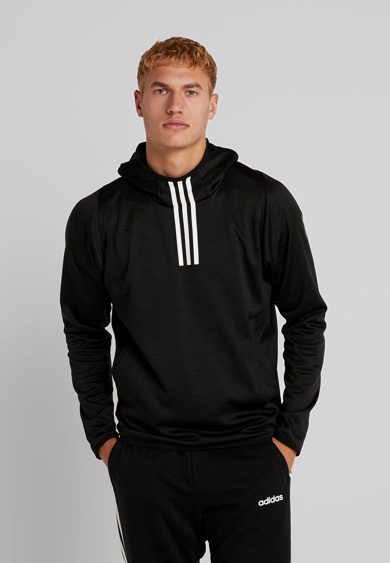 adidas Performance - WARM HOODIE - Hoodie - black