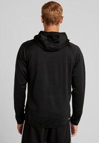 adidas Performance - WARM HOODIE - Hoodie - black - 2