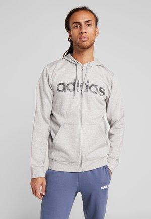 CAMO LIN - Zip-up hoodie - grey/black