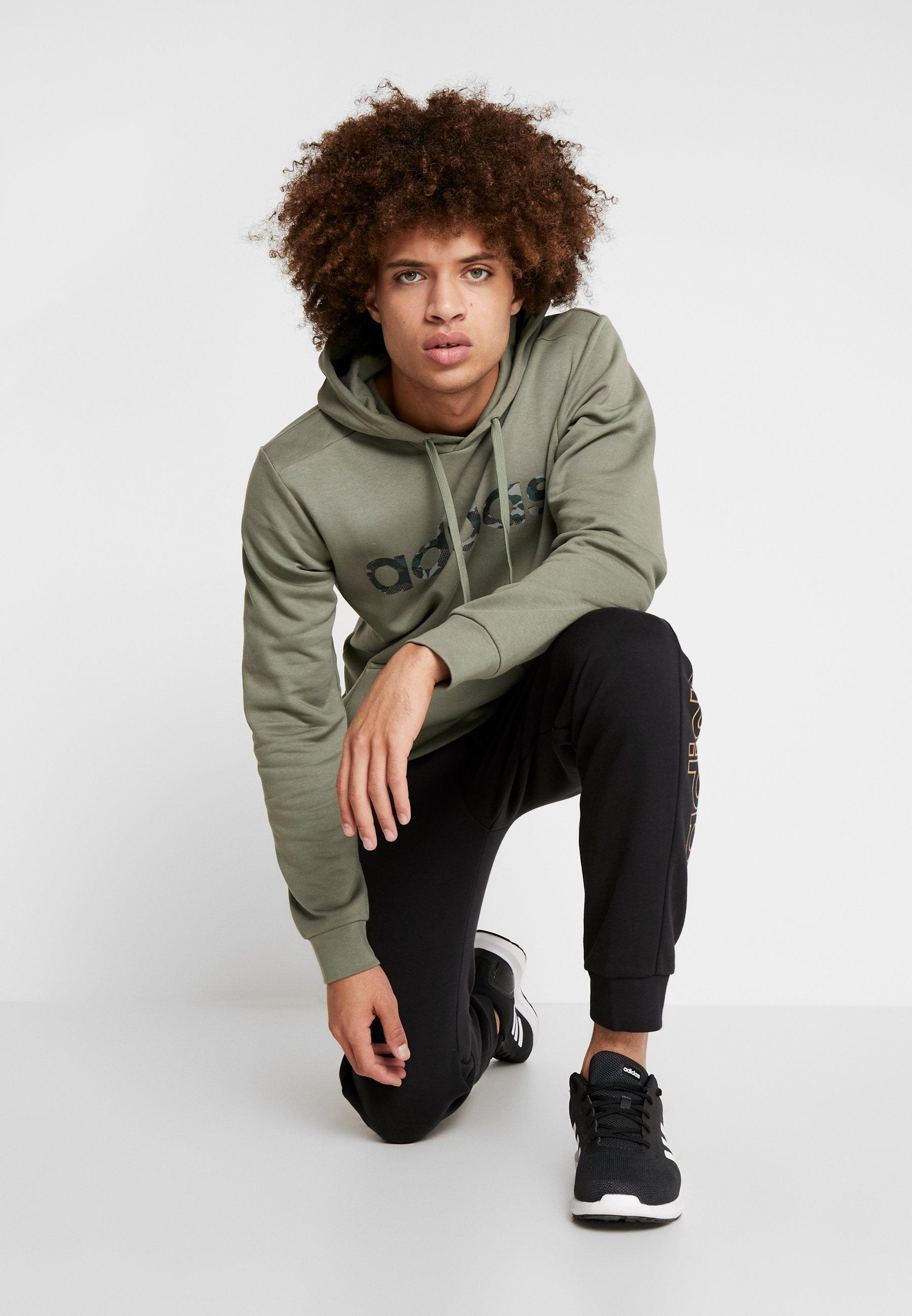 adidas Performance CAMO LIN - Bluza z kapturem - green