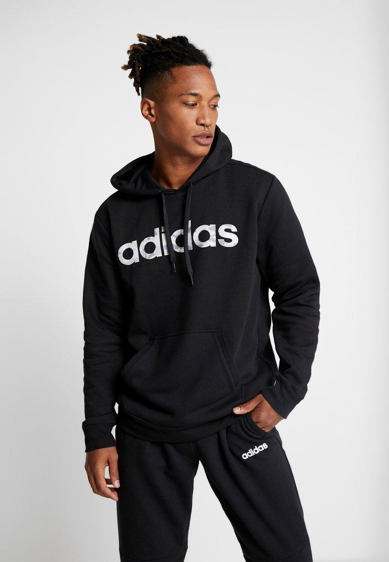 adidas Performance - CAMO LIN  - Bluza z kapturem - black/white