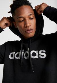 adidas Performance - CAMO LIN  - Bluza z kapturem - black/white - 5