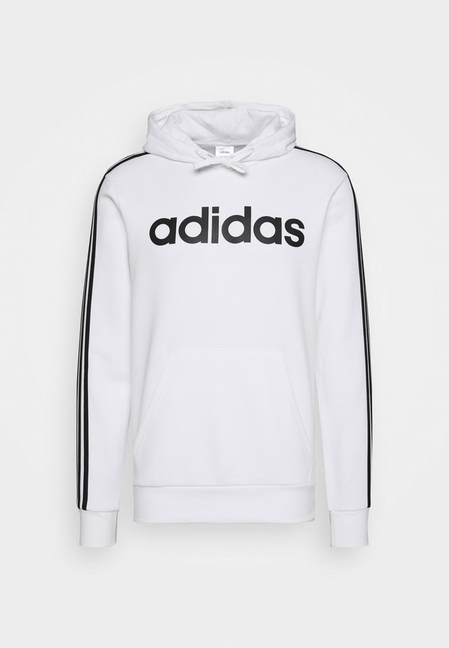 3 STRIPES ESSENTIALS SPORTS HOODED - Jersey con capucha - white/black