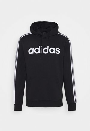3 STRIPES ESSENTIALS SPORTS HOODED - Mikina s kapucí - black/white