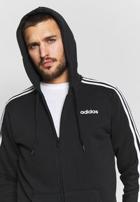 adidas Performance - veste en sweat zippée - black/white - 3