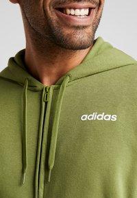 adidas Performance - veste en sweat zippée - tech olive - 3