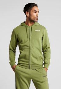 adidas Performance - veste en sweat zippée - tech olive - 0